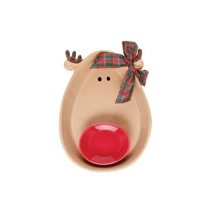 C&F Home Reindeer Chip & Dip, Set of 2