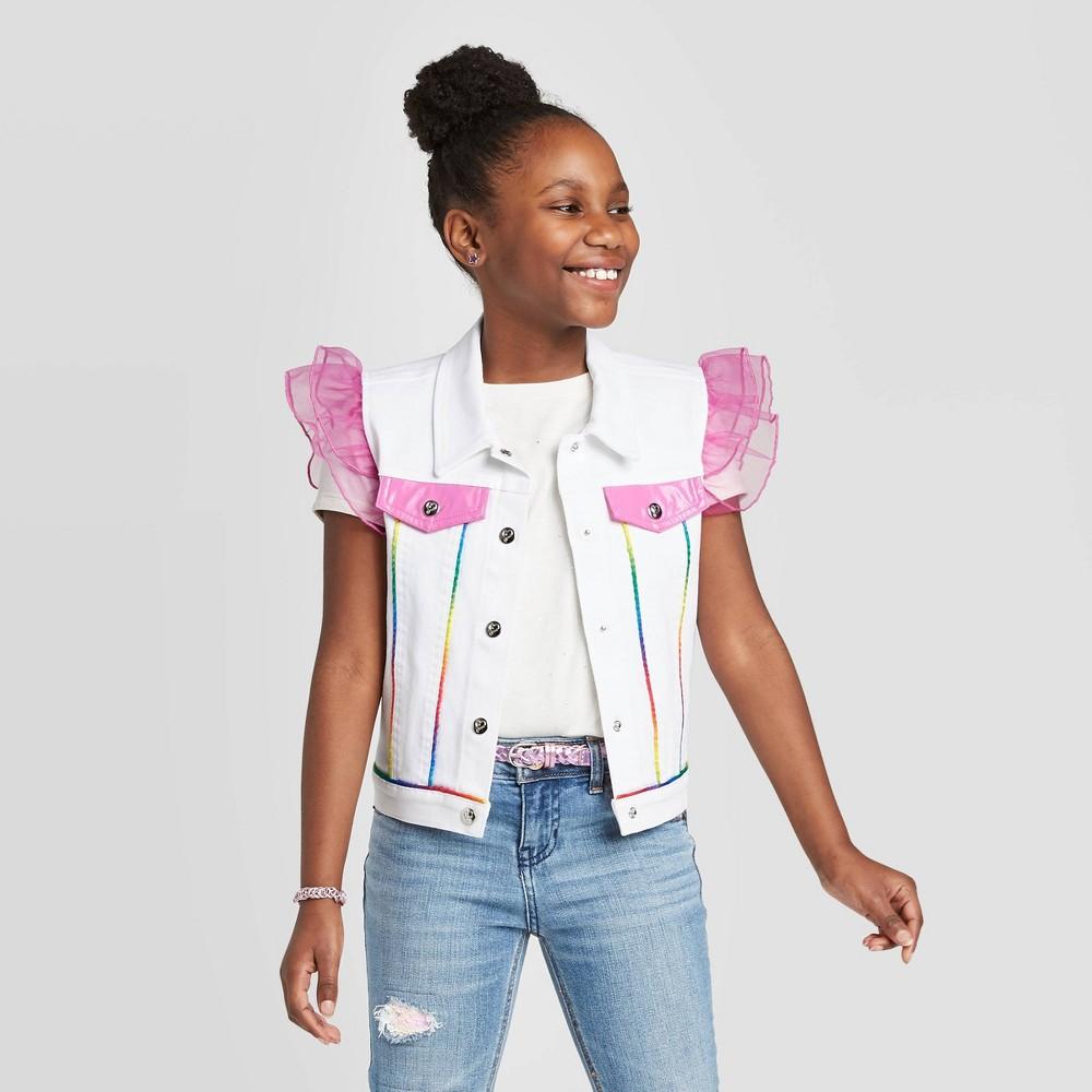 Image of Girls' JoJo's Closet Vest - White L, Girl's, Size: Large