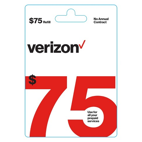 Verizon Wireless 75 Prepaid Refill Card Email Delivery Target
