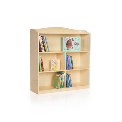 Guidecraft Single Sided Bookcase 36 inches Height - Natural