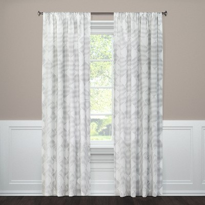 Clipped Sheer Curtain Panel Radiant Gray (54 x84 )- Threshold™