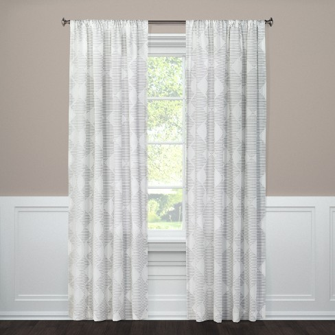 """84""""x54"""" Clipped Sheer Curtain Panel Radiant Gray - Threshold™ - image 1 of 2"""