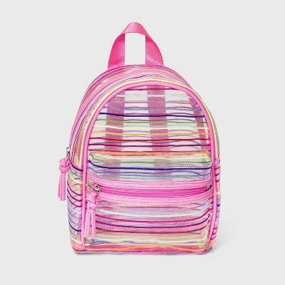 Girls' Striped Mesh Mini Backpack - Cat & Jack™