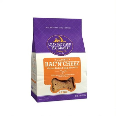 Old Mother Hubbard Classic Crunchy Bac'N'Cheez Biscuits Large Oven Baked Dog Treats - 3lb - 5oz
