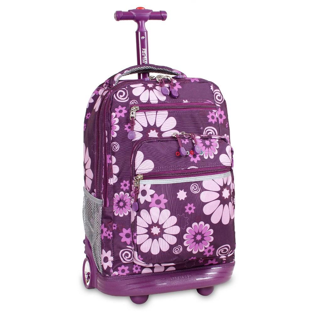 J World 20 Sundance Rolling Backpack With Laptop Sleeve Purple