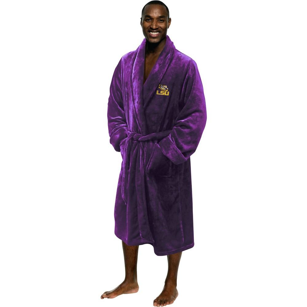 NCAA Lsu Tigers Bath Robe, Adult Unisex, Purple/Gold
