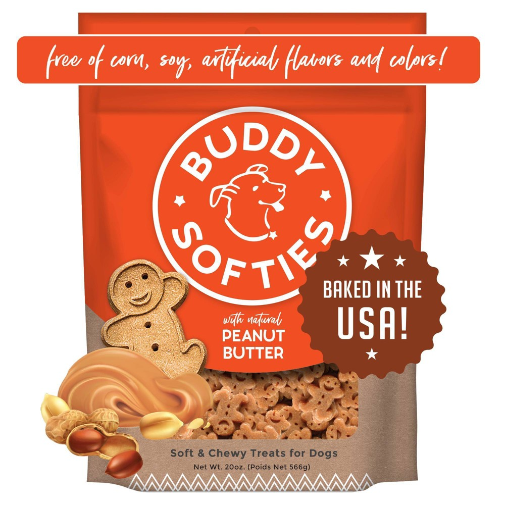 Buddy Biscuits Peanut Butter Soft And Chewy Dog Treats 20oz