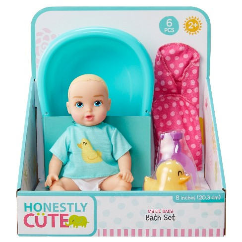 "Honestly Cute My Lil' 8"" Baby Bath Time Set - image 1 of 7"