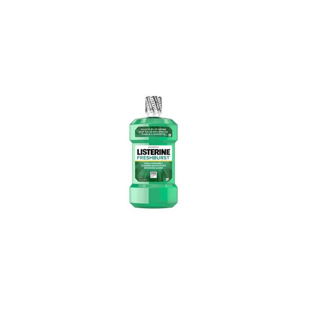 Image of Listerine Freshburst Antiseptic Mouthwash Kills Bad Breath Germs - 1L