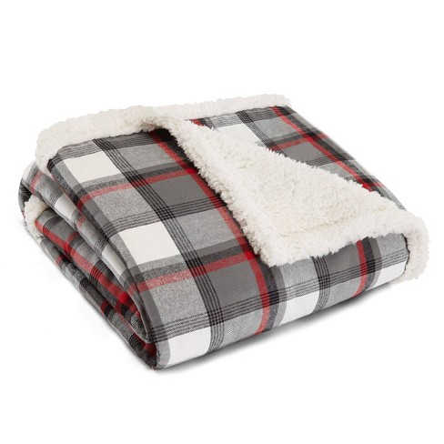 Wallace Plaid Throw Blanket Gray - Eddie Bauer - image 1 of 4