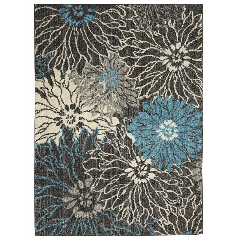 Nourison Passion PSN17 Charcoal/Blue Indoor Area Rug - image 1 of 4