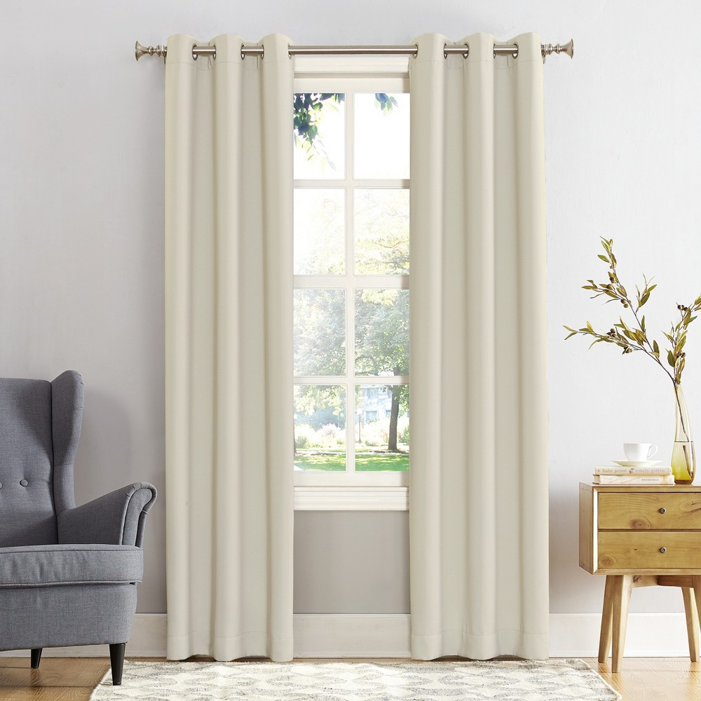 Image of 40 x 108 Kenneth Blackout Energy Efficient Grommet Curtain Panel Cream - Sun Zero
