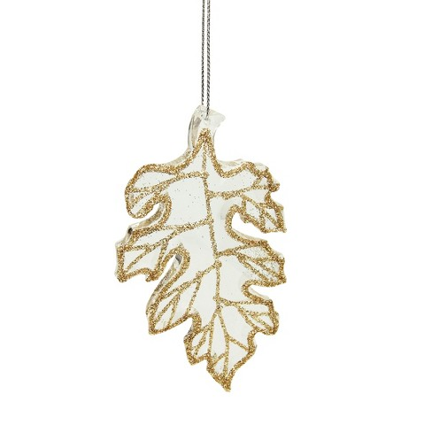 raz imports 4 rich elegance champagne glittered oak leaf christmas ornament clear gold target raz imports 4 rich elegance champagne glittered oak leaf christmas ornament clear gold