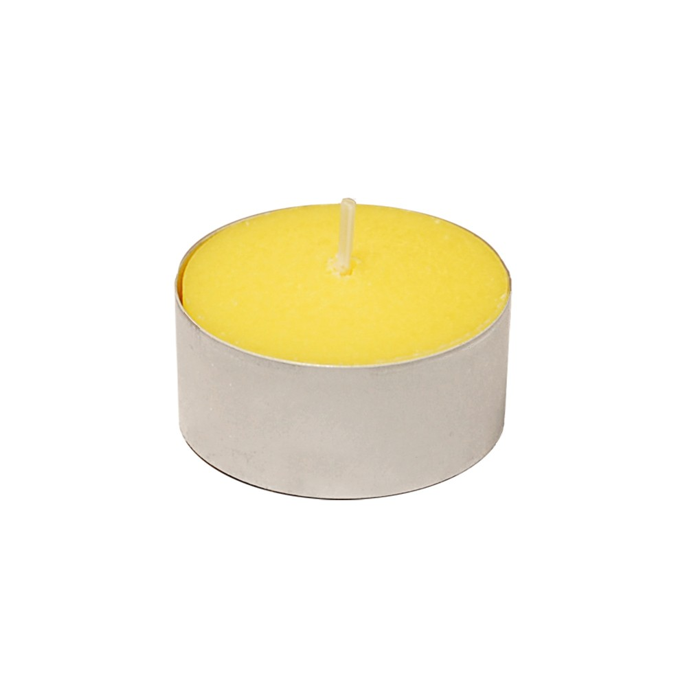 Image of 100ct Lumabase Yellow Extended Burn Citronella Tea Light Candles