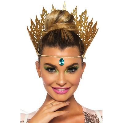 Leg Avenue Glitter Die Cut Crown with Jewel Accent