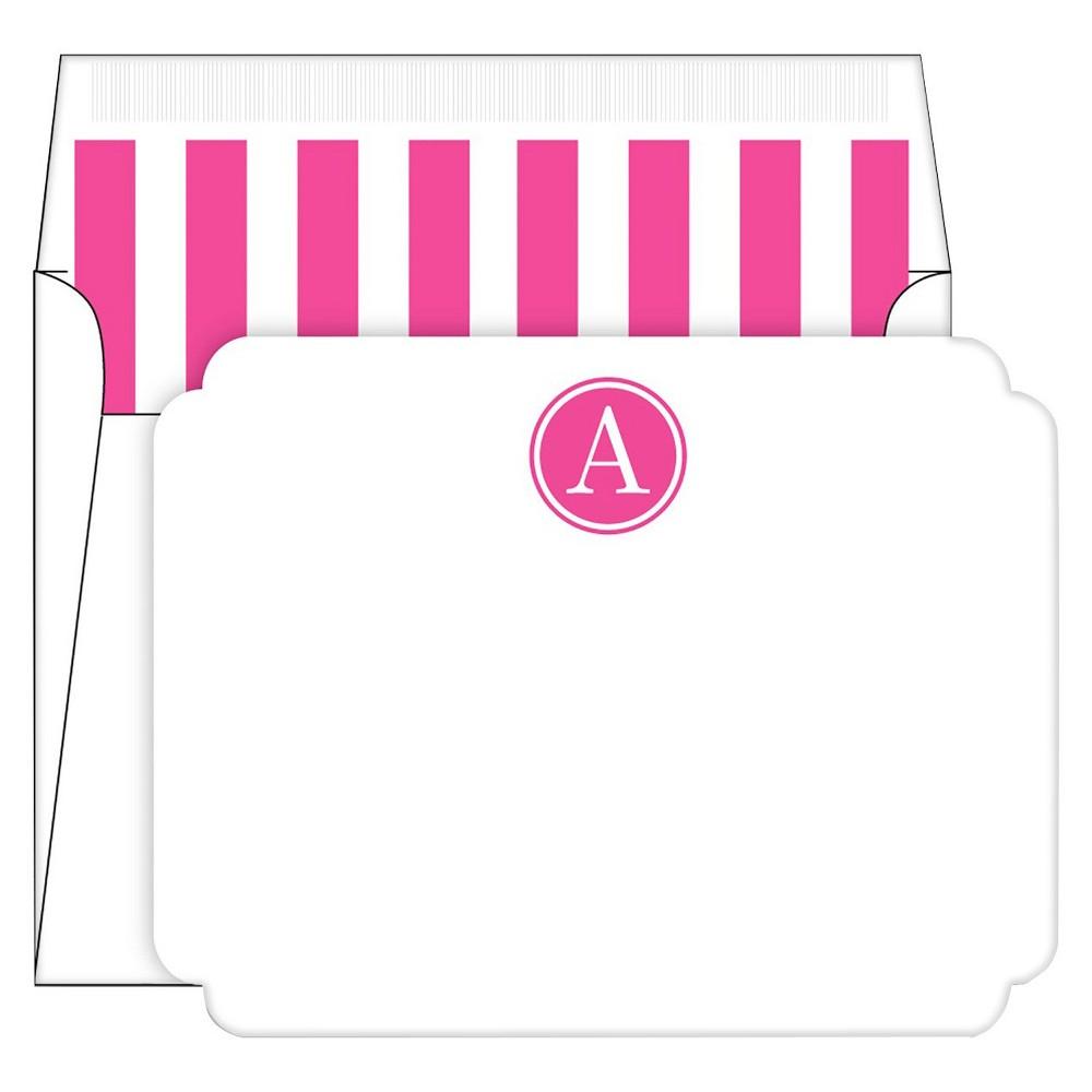 Die-Cut Social Set Preppy Stripe Monogram - A