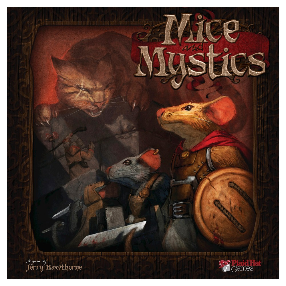 Mice and Mystics Board Game In Mice and Mystics players take on the roles of those still loyal to the king, but to escape the clutches of Vanestra they have been turned into mice! Play as cunning field mice who must race through a castle now twenty times larger than before. Mice and Mystics will provide any group of friends with an unforgettable adventure they will be talking about for years to come? assuming they can all squeak by... Gender: Unisex.
