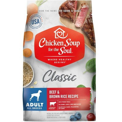 Chicken Soup for the Soul Beef & Brown Rice Recipe Dry Dog Food Adult 13.5 lb