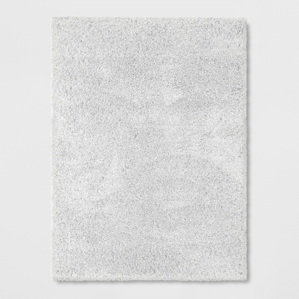 7'X10' Solid Eyelash Woven Shag Rug Cream (Ivory) - Project 62