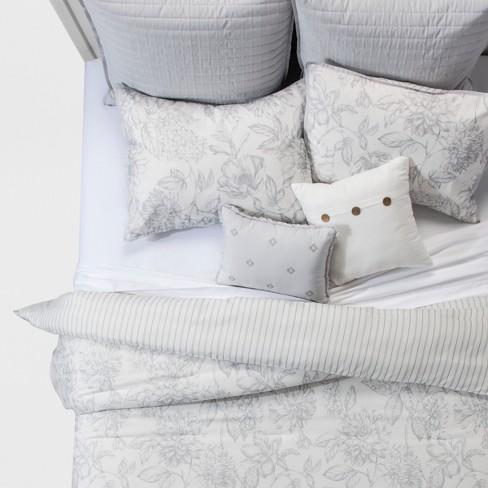 3f65060cd8 8pc Floral Nora Linework Comforter Set