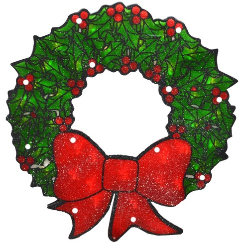 Northlight 15 Lighted Double Sided Shimmering Christmas Wreath