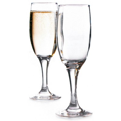 Home Essentials Basic 5.5 Ounce Glass Champagne Flutes, Set of 4