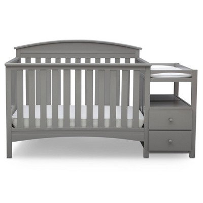 Delta Children Abby Convertible Crib and Changer - Gray