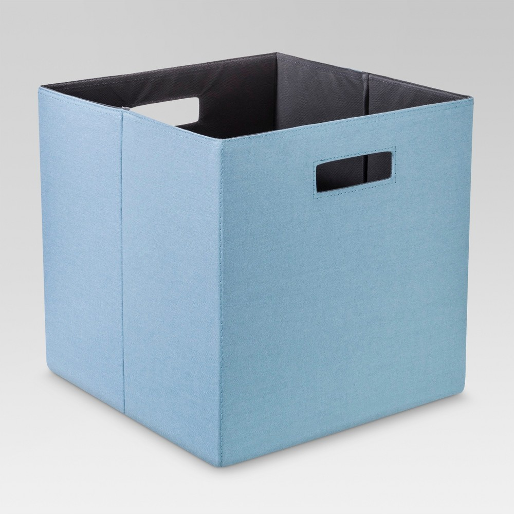 Fabric Cube Storage Bin Blue 13 - Threshold