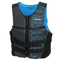 OBrien BioLite Series Men's Flex V Back Neoprene Life Vest Size M, Black/Blue