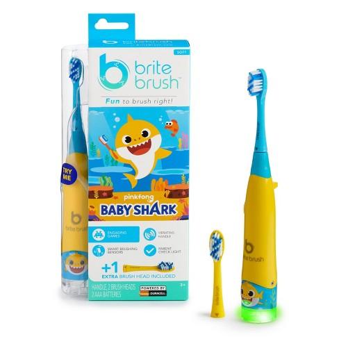 BriteBrush Interactive Smart Kids Toothbrush featuring Baby Shark - image 1 of 4