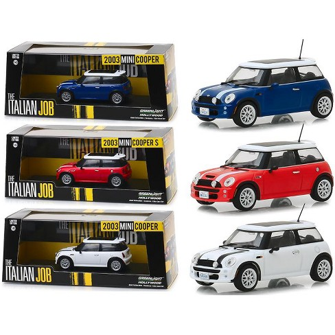 Mini Cooper Models >> Mini Cooper 3 Piece Set The Italian Job 2003 Movie 1 43 Diecast Model Cars By Greenlight