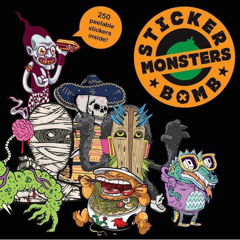 Stickerbomb Monsters - (Paperback) - image 1 of 1
