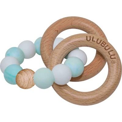 Ulubulu Silicone with Wood Teether - Mint