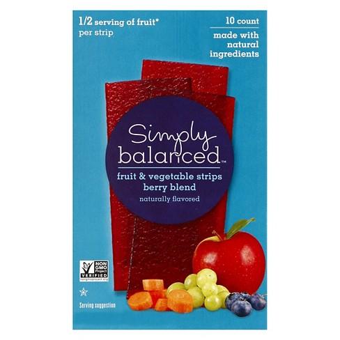 Fruit Vegetable Strips Berry Blend 4 93oz Simpl Target