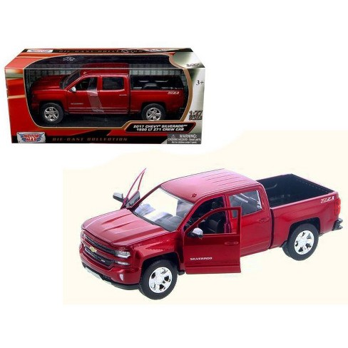 2017 Chevrolet Silverado 1500 Lt Z71 Crew Cab Metallic Red 1 27 Diecast Model Car By Motormax