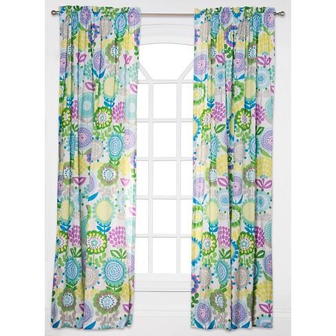 CrayolaR Pointillist Pansy Curtain Panel Target