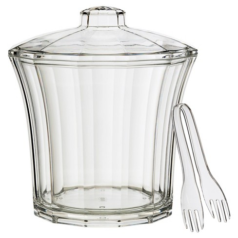 CreativeWare Fluted 4qt Acrylic Insulated Ice Bucket - image 1 of 2