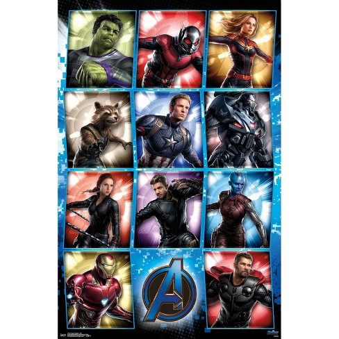 "34"" x 23"" Avengers: Endgame Grid Unframed Wall Poster Print - Trends International - image 1 of 2"