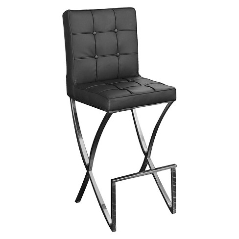 28 Quot Markson Leather Barstool Black Christopher Knight