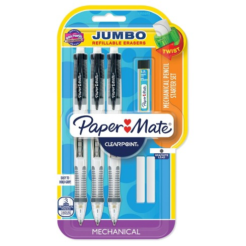 Paper Mate Clearpoint 3ct Mechanical #2 Pencils 0.7mm with Lead/Eraser Refills - image 1 of 3