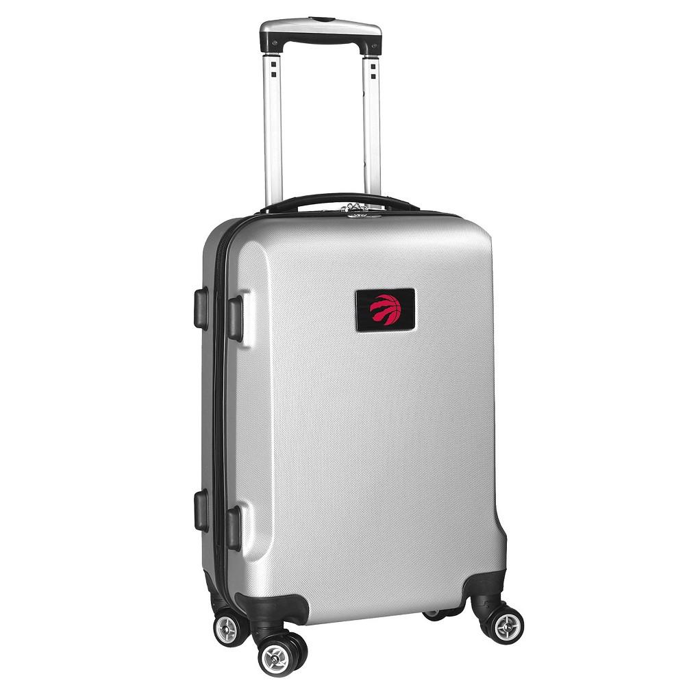 NBA Toronto Raptors Mojo Hardcase Spinner Carry On Suitcase - Silver