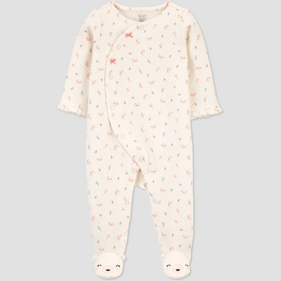 Baby Floral One Piece Pajama - Just One You® made by carter's Cream Newborn