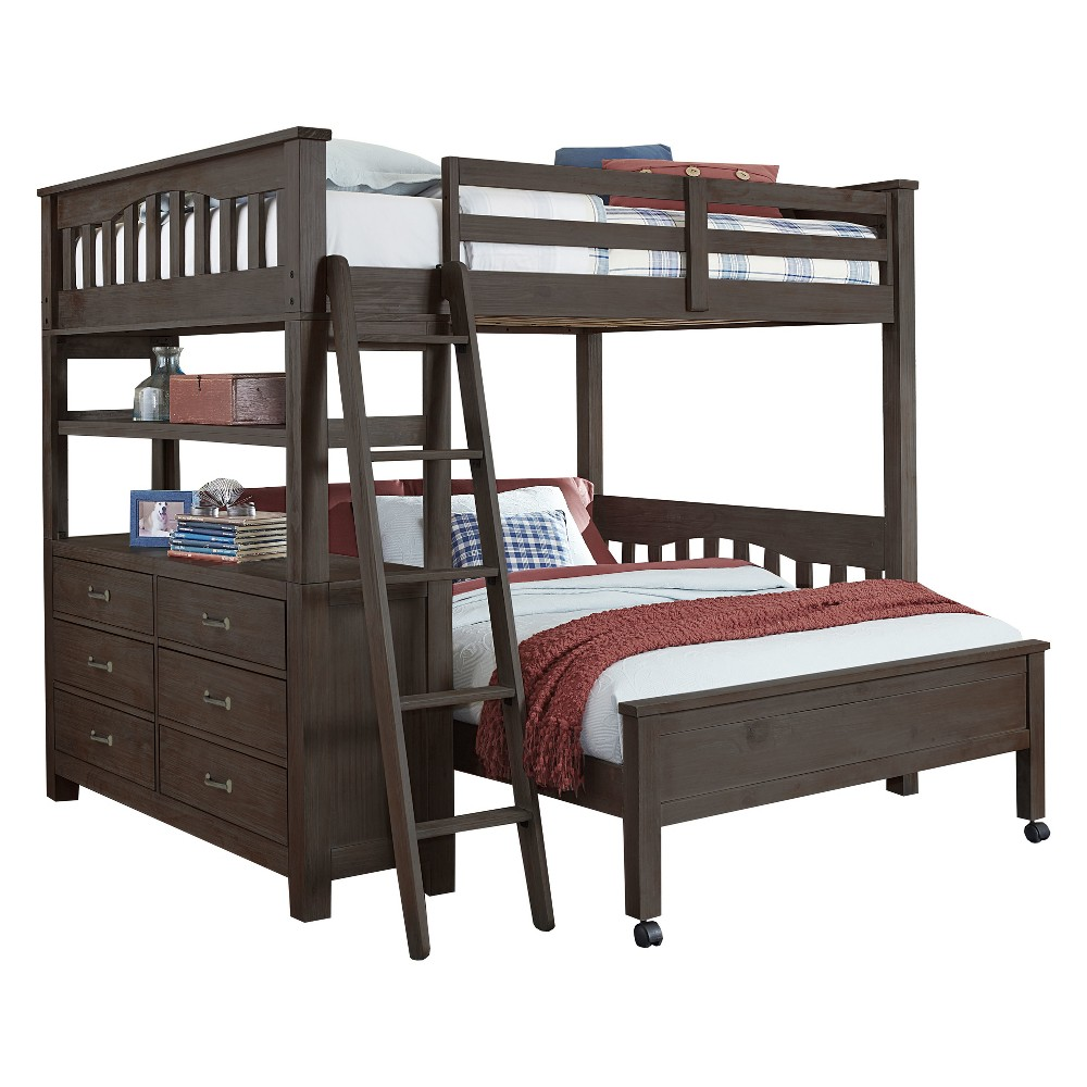 Full over Full Highlands Loft and Lower Bed Espresso (Brown) - Hillsdale Furniture