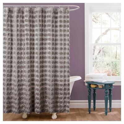Emma Shower Curtain Gray - Lush Décor