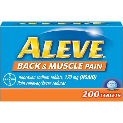 Aleve Back & Muscle Pain Reliever Tablets - Naproxen Sodium (NSAID) - 200ct