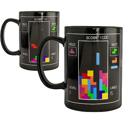 Paladone Products Ltd. Tetris 10oz Heat Change Ceramic Coffee Mug