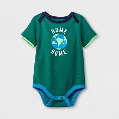 Baby Boys' Short Sleeve Bodysuit - Cat & Jack™ Green Newborn