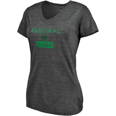 MLS Austin FC Women's Short Sleeve V-Neck Gray T-Shirt