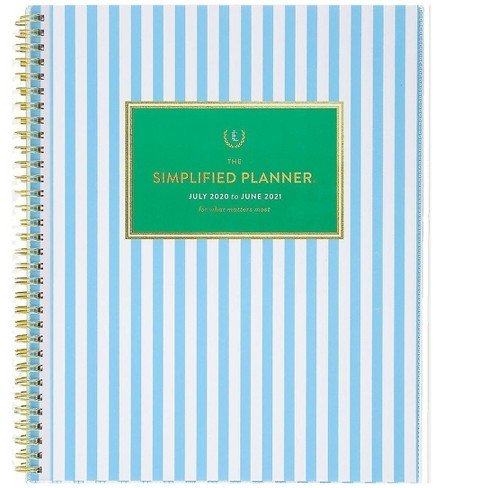 AT-A-GLANCE 2020-2021 8.5 x 11 Academic Planner Blue Strip EL401-901A-21 - image 1 of 4