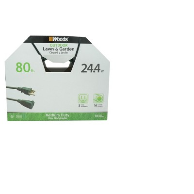 "Woods 80"" 16/3 Extension Cord Green"